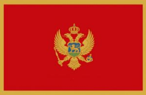 Montenegro Large Country Flag - 3' x 2'.